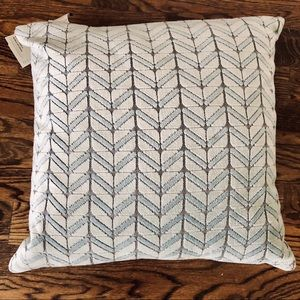 """New WEST ELM Pillow Cover & Insert Size 20x20"""""""